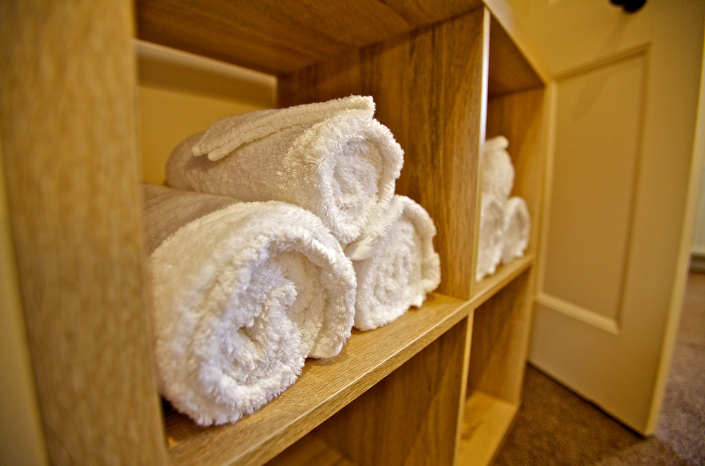 Plenty of soft white towels at Kirkwall Bed and Breakfast